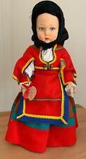 "Italian Felt ""Sarda� Lenci Girl with Parchment Tag 16� Pristine Condition"