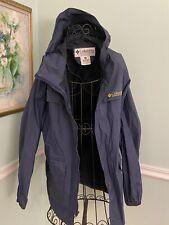 COLUMBIA Blue Medium M Yellow Waterproof Rain Gear Jacket