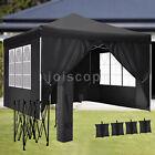 Pop-up Gazebo 3x3M Heavy Duty Canopy Garden Party Tent Waterproof with 4Sides UK