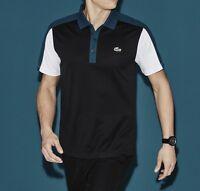Lacoste Sport Ultra Dry Men's Polo Shirt Top T-Shirt Genuine - Black - RRP £75