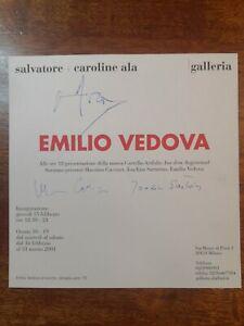 EMILIO VEDOVA MASSIMO CACCIARI JOACHIM SARTORIUS AUTOGRAFO ARTISTA AUTOGRAPH #32