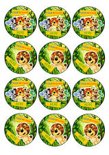 RAA RAA THE NOISY LION personalised CUPCAKE TOPPERS 12 x 6cm A4 ICING SHEET