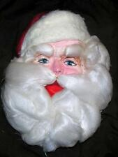 Vtg 1940'S Molded Cardboard Paper Mache Pulp Xmas Santa Face Spun Glass Beard