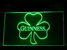 J293G Guinness Shamrock Beer Irish For Pub Bar Display Decor Light Sign