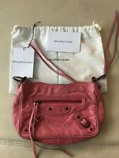 Authentic Balenciaga The Hip Clutch Pouch Bag In Pink