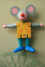 """New listing Mouse In Cheese Tatiri Wood Puppet 5"""" Rat Imagination Pretend Play Toy"""