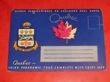 JE349 Vintage Souvenir Fold-Out Postcard Folder Quebec Canada