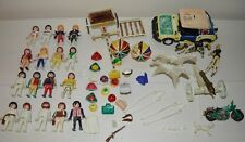 Lot PLAYMOBIL blanc Klicky GEOBRA COLOR Canon chevaux... Vintage 70 / 80's 3609