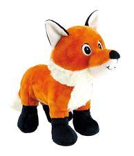 Peluche volpe cm 28 morbido cucciolo fox, colore vivo zampe scure