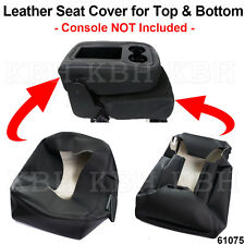 Leather Armrest Console JUMP SEAT Cover fits 07-13 Silverado Tahoe Yukon Sierra