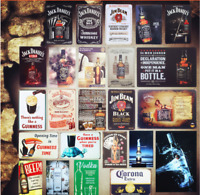 Vintage Metal Tin Signs Home Bar Pub Decorative Metal Plaque Beer Whiskey Vodka