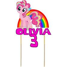 My Little Pony Cake Topper Personalised Kids Birthday Party Decoration Image MLP
