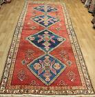 Antique Handmade Persian Karajeh Runner 340 x 140 cm Hand Knotted Wool Runner