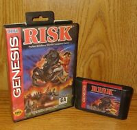 Risk - Parker Brothers ~ Sega Genesis Game & Box Tested + Working