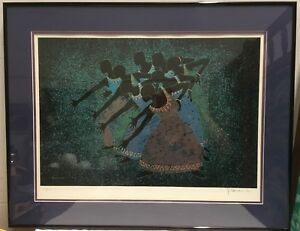 Art Print UMOJA Artist Larry Poncho Brown signed Limited Edition 603/850 African