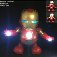 Marvel Avengers Iron Man Dancing Hero With Music/Lights Robots Toys Gift USA New