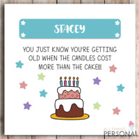 Funny Birthday Card Dad Mum Brother Sister Friend Rude Joke 40th 50th 60th 70th