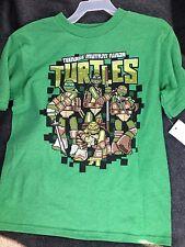 NWT TMNT Teenage Mutant Ninja Turtles boys t-shirt size 4/5 Minecraft