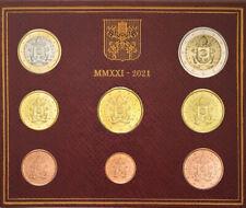 Euro KMS Vatikan 2021 Stgl. Vom Händler! TOP QUALITÄT! Vatican coin set