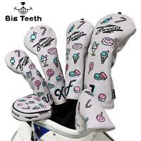 Golf Headcover Dessert Embriodrey for Putter/Driver/Fairway/UT Club PU leather