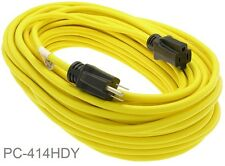 100ft 3-Prong 14/3 AWG SJTW Heavy Duty Power Extension Cord, Yellow PC-414HDY