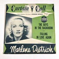 Marlene Dietrich Falling In Love Again 1959 Decca 9-11059 45rpm Vinyl NM