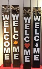 Interchangeable Handmade Wooden Welcome Sign