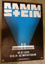 Rammstein    Konzertposter   2020    Berlin  - Riesig