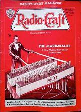 MARIMALITE - Radio Craft Magazine OCT 1934 editor HUGO GERNSBACK