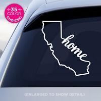 "California State ""Home"" Decal - CA Home Car Vinyl Sticker - add heart to a city!"