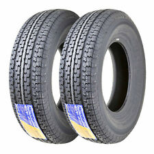 2 Premium FREE COUNTRY Trailer Radial Tire ST225 75R15 10PR LR E w/Scuff Guard