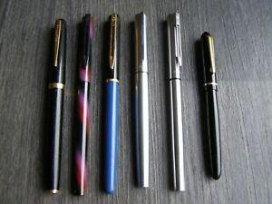 Lot Stylos plume WATERMAN France,crayons cartouche encre,écriture vintage, or 18