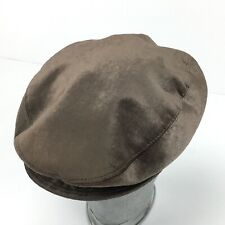 DOLCE & GABBANA Hat Brown Velvet Newsboy Cap Size 7,1/8 - 58