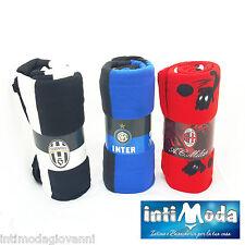 Coperta in Pile Juve Inter Milan Plaid 160x240 prodotto ufficiale copriletto