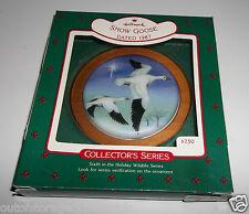 Hallmark Ornament Snow Goose 1987 6th In Holiday Wildlife Series QX3717 - NEW