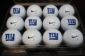 1 Dozen (New York Giants Logo) Nike Assorted Mint / AAAAA Used Golf Balls