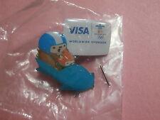 Bobsled - Quatchi & Miga (Mascot) Vancouver 2010 Olympic Visa Sponsor Pin