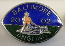 BALTIMORE ANGLING Enamel Pin Badge 2002 FISHING Maker W.O. LEWIS B'HAM
