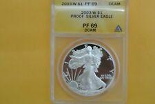 2003-W (Proof) Silver American Eagle PF-69 DCAM ANACS