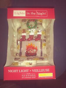 CHRISTMAS, FIREPLACE, NIGHT LIGHT