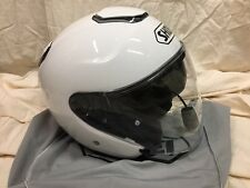 Shoei J Cruise helmet white adult size XS w/ J&M 629 headset