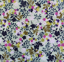 1/2 Yard Cotton Quilting Sewing Flower Fabric, MINT Costa de Las Flores By EBI
