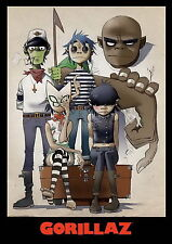 "004 Gorillaz - English Virtual Band Damon Albarn Jamie Hewlett 14""x20"" Poster"