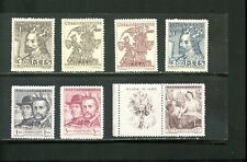 LOT 80491 MINT H 343, 346-9 355-6  STAMPS FROM  CZECHOSLOVAKIA