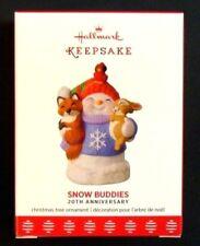 2017 Hallmark Snow Buddies 20th Anniversary Christmas Ornament Snowman Fox Bunny