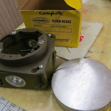 Hubbell B-2536-41 Floor Box / floor outlet box - New, old stock - missing brass