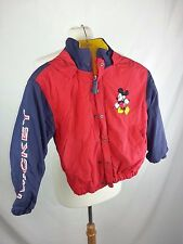 Disney MICKEY MOUSE Red Blue Puffy Jacket Coat Youth M Medium Hoodie