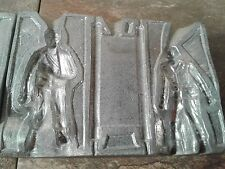 Vintage/Antique WW1 - 1930s - Lead Soldier Toy Making Mold - Complete 2x Sided!
