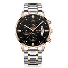 NIBOSI Men's Luxury Stainless Steel Quartz Analog Sports Waterproof Wrist Watch