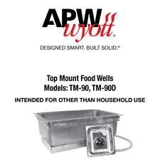 New APW WYOTT 55366-36UL TM-90D 208/240/277V Drop-In Hot Food Well Full Size Pan
